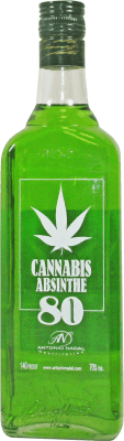 16,95 € Envío gratis | Absenta Antonio Nadal 80 Cannabis España Botella 70 cl