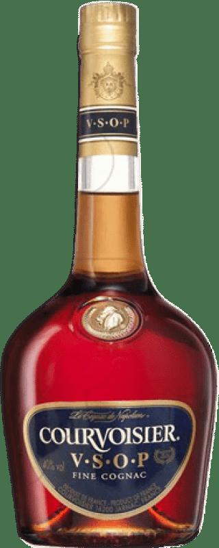 32,95 € Envío gratis | Coñac Courvoisier V.S.O.P. Very Superior Old Pale Francia Botella Misil 1 L
