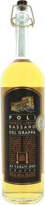 24,95 € Envío gratis | Grappa Poli Bassano 24 Carati Oro Italia Botella 70 cl