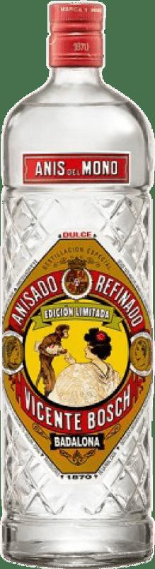 9,95 € Envío gratis | Anisado Anís del Mono Dulce España Botella Misil 1 L