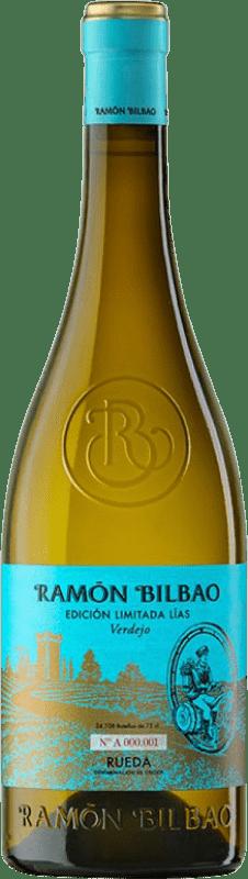 14,95 € Spedizione Gratuita | Vino bianco Ramón Bilbao Edición Limitada Lías Crianza D.O. Rueda Castilla y León Spagna Verdejo Bottiglia 75 cl