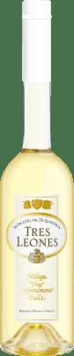 8,95 € Free Shipping | Fortified wine Málaga Virgen Tres Leones D.O. Sierras de Málaga Andalucía y Extremadura Spain Muscatel Half Bottle 50 cl