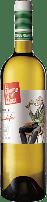 8,95 € Free Shipping | White wine Vallobera El Marido de mi Amiga Joven D.O.Ca. Rioja The Rioja Spain Tempranillo, Malvasía, Sauvignon White Bottle 75 cl