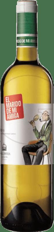 15,95 € Free Shipping | White wine Vallobera El Marido de mi Amiga Joven D.O.Ca. Rioja The Rioja Spain Tempranillo, Malvasía, Sauvignon White Magnum Bottle 1,5 L