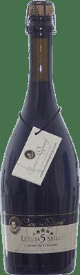 9,95 € Free Shipping | Red sparkling Dei Giorgi Letizia 5 Stelle Rosso Dry D.O.C. Lambrusco di Sorbara Italy Lambrusco Bottle 75 cl