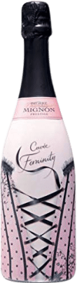 32,95 € Free Shipping | White sparkling Champagne Pierre Mignon Cuvée Feminity Brut Gran Reserva A.O.C. Champagne France Pinot Black, Chardonnay, Pinot Meunier Bottle 75 cl | Thousands of wine lovers trust us to get the best price guarantee, free shipping always and hassle-free shopping and returns.