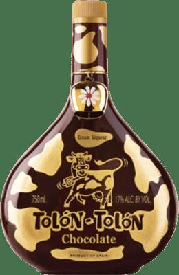 11,95 € Envío gratis | Crema de Licor Campeny Tolon-Tolon Chocolat Cream España Botella 70 cl
