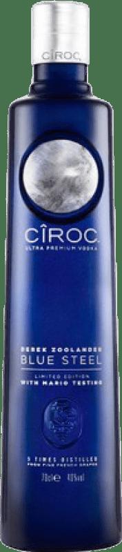 29,95 € Free Shipping | Vodka Cîroc Blue Steel France Bottle 70 cl