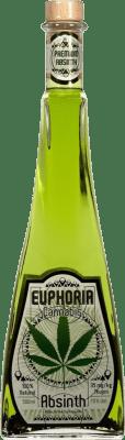 21,95 € Envío gratis | Absenta Hill's Euphoria Cannabis República Checa Media Botella 50 cl