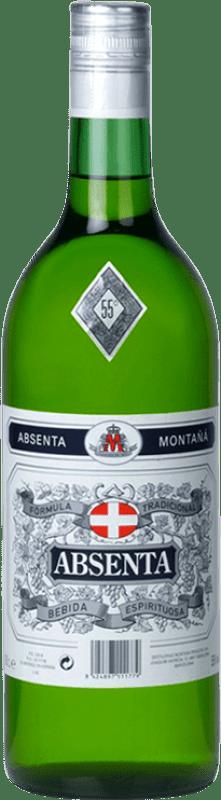 15,95 € Envío gratis | Absenta Montaña España Botella Misil 1 L