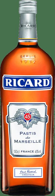 24,95 € Envío gratis   Pastis Pernod Ricard Francia Botella Mágnum 1,5 L