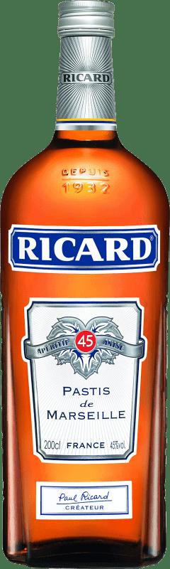 29,95 € Envío gratis   Pastis Pernod Ricard Francia Botella Especial 2 L