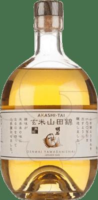 49,95 € Free Shipping | Sake Akashi-Tai Genmai Yamadan Japan Bottle 75 cl