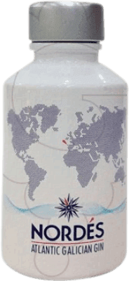 4,95 € Kostenloser Versand | Gin Atlantic Galician Nordés Gin Spanien Kleine Flasche 5 cl