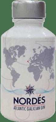 5,95 € Free Shipping | Gin Galician Original Nordés Gin Spain Small Bottle 5 cl