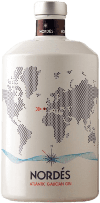 26,95 € Free Shipping | Gin Galician Original Nordés Atlantic Gin Spain Bottle 70 cl
