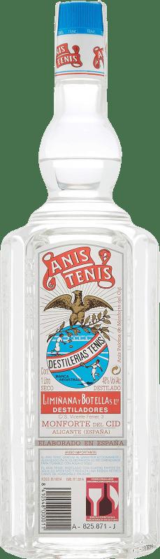 13,95 € Envío gratis | Anisado Tenis Anís Seco España Botella Misil 1 L
