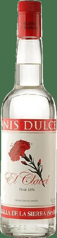 12,95 € Envío gratis | Anisado Cazalla El Clavel Dulce España Botella Misil 1 L