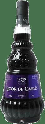 9,95 € Kostenloser Versand | Liköre Licor de Cassis Dera Val Licor Macerado Spanien Flasche 70 cl