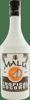 8,95 € Envoi gratuit | Liqueurs Malú Tropical Coconut Espagne Bouteille Missile 1 L