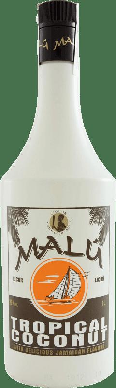 7,95 € Envío gratis | Licores Malú Tropical Coconut España Botella Misil 1 L