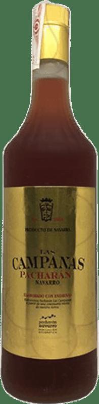 8,95 € Kostenloser Versand | Pacharán Las Campanas Spanien Rakete Flasche 1 L