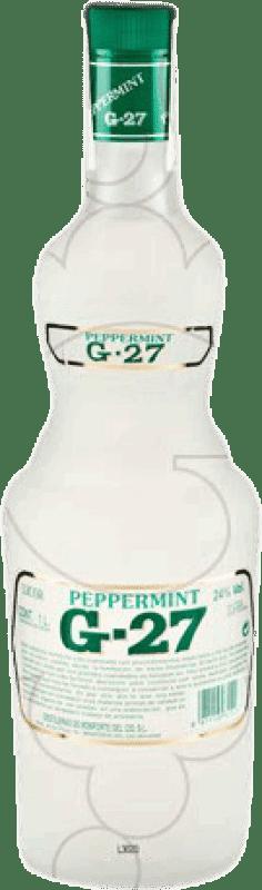 9,95 € Envío gratis | Licores Salas Blanco G-27 Peppermint España Botella Misil 1 L