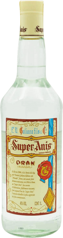 13,95 € Envío gratis | Anisado Galiana Fils Super Anís Seco España Botella Misil 1 L