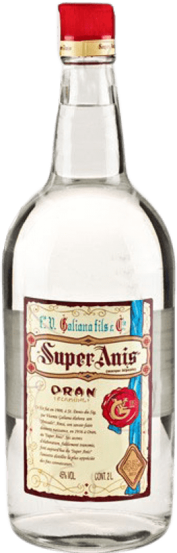 19,95 € Envío gratis | Anisado Galiana Fils Super Anís Seco España Botella Especial 2 L