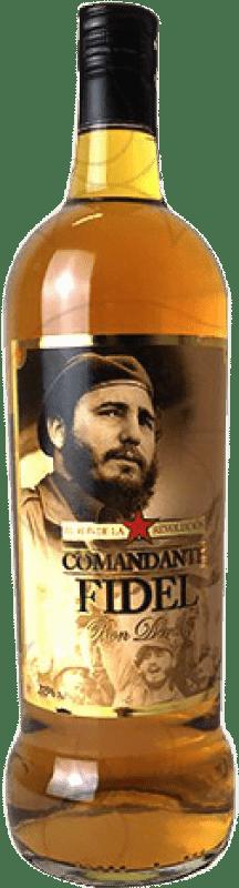10,95 € Free Shipping | Rum Comandante Fidel Dorado Spain Missile Bottle 1 L