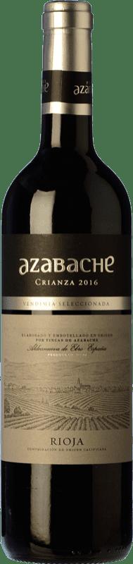 5,95 € Spedizione Gratuita | Vino rosso Azabache Crianza D.O.Ca. Rioja La Rioja Spagna Bottiglia 75 cl