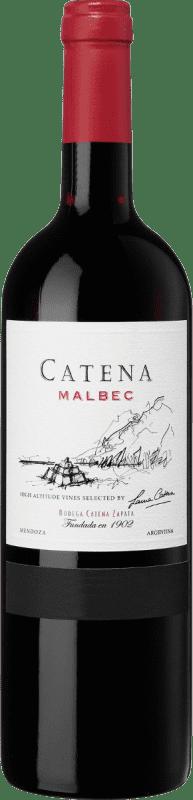 12,95 € Envío gratis | Vino tinto Catena Zapata Crianza Argentina Malbec Botella 75 cl