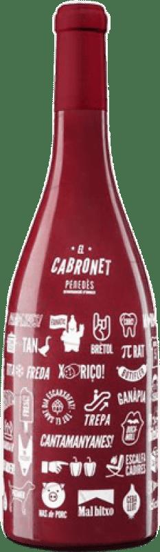 17,95 € Free Shipping | Red wine El Cabronet Negre Crianza D.O. Penedès Catalonia Spain Cabernet Sauvignon Magnum Bottle 1,5 L
