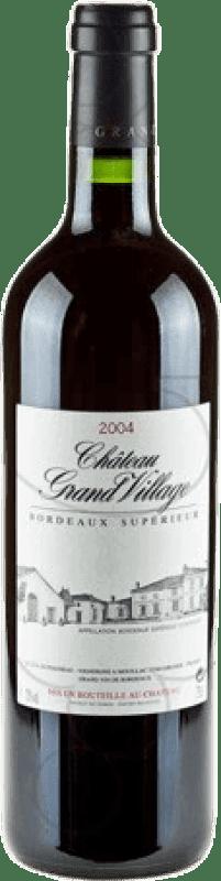 19,95 € Envoi gratuit | Vin rouge Jean-Pierre Moueix Château Grand Village A.O.C. Bordeaux France Merlot, Cabernet Franc Bouteille 75 cl