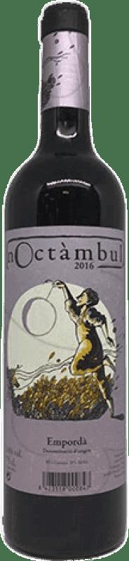 8,95 € Spedizione Gratuita | Vino rosso Noctàmbul Joven D.O. Empordà Catalogna Spagna Merlot, Grenache Bottiglia 75 cl