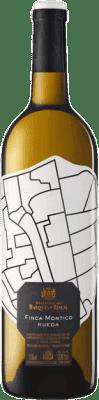 29,95 € Envío gratis | Vino blanco Finca Montico Joven D.O. Rueda Castilla y León España Verdejo Botella Mágnum 1,5 L