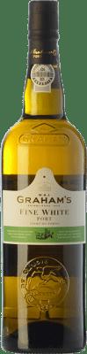 7,95 € Envío gratis | Vino generoso Graham's Blanco Oporto I.G. Porto Portugal Malvasía, Códega, Rabigato, Viosinho Botella 75 cl