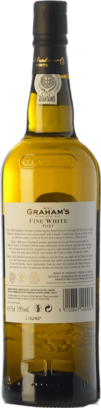 7,95 € Free Shipping   Fortified wine Graham's Blanco Oporto I.G. Porto Portugal Malvasía, Códega, Rabigato, Viosinho Bottle 75 cl