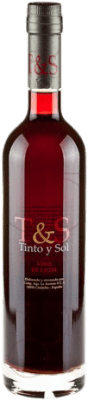 16,95 € Free Shipping | Fortified wine Tinto y Sol Andalucía y Extremadura Spain Merlot Half Bottle 50 cl