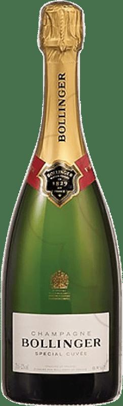 55,95 € Envoi gratuit | Blanc moussant Bollinger Cuvée Brut Gran Reserva A.O.C. Champagne France Pinot Noir, Chardonnay, Pinot Meunier Bouteille 75 cl