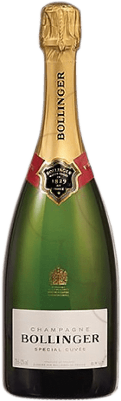 55,95 € Free Shipping | White sparkling Bollinger Cuvée Brut Gran Reserva A.O.C. Champagne France Pinot Black, Chardonnay, Pinot Meunier Bottle 75 cl