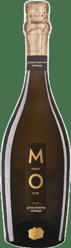 12,95 € Free Shipping | White sparkling Mo Masía d'Or Brut Nature Gran Reserva 2007 D.O. Cava Catalonia Spain Bottle 75 cl
