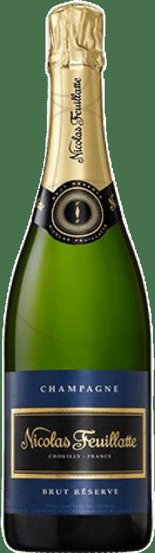 26,95 € Envoi gratuit | Blanc moussant Nicolas Feuillatte Brut Gran Reserva A.O.C. Champagne France Pinot Noir, Chardonnay, Pinot Meunier Bouteille 75 cl