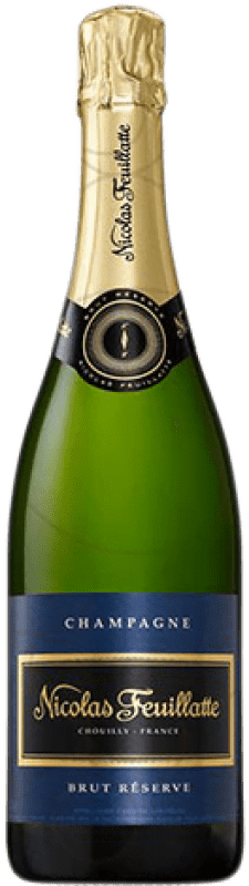 26,95 € Free Shipping | White sparkling Nicolas Feuillatte Brut Gran Reserva A.O.C. Champagne France Pinot Black, Chardonnay, Pinot Meunier Bottle 75 cl