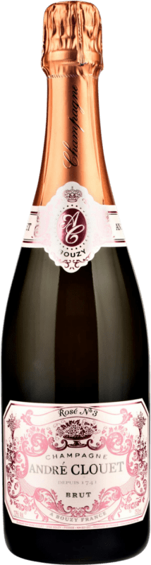 42,95 € Free Shipping | Rosé sparkling André Clouet Rose Brut Gran Reserva A.O.C. Champagne France Bottle 75 cl