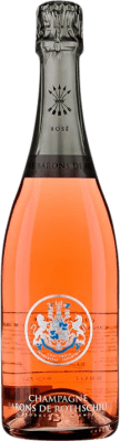 49,95 € Kostenloser Versand | Rosé Sekt Barons de Rothschild Brut Gran Reserva A.O.C. Champagne Frankreich Pinot Schwarz, Chardonnay Flasche 75 cl