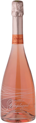 19,95 € Free Shipping | Rosé sparkling Unplugged Rosé Brut Reserva D.O. Cava Catalonia Spain Pinot Black Bottle 75 cl