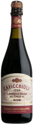5,95 € Free Shipping | Red sparkling Cavicchioli Rosso D.O.C. Lambrusco di Sorbara Italy Lambrusco Bottle 75 cl