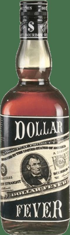 13,95 € Envío gratis | Bourbon Dollar Fever Estados Unidos Botella Misil 1 L
