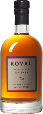 45,95 € Envío gratis | Whisky Blended Koval Rye Reserva Chicago Estados Unidos Media Botella 50 cl